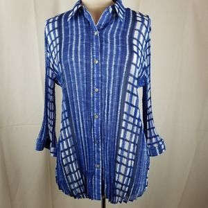 Chicos blissful dreams 3/4 sleeve top NWT